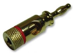 PRO SIGNAL PSG02042  4Mm Plug Gold/Red